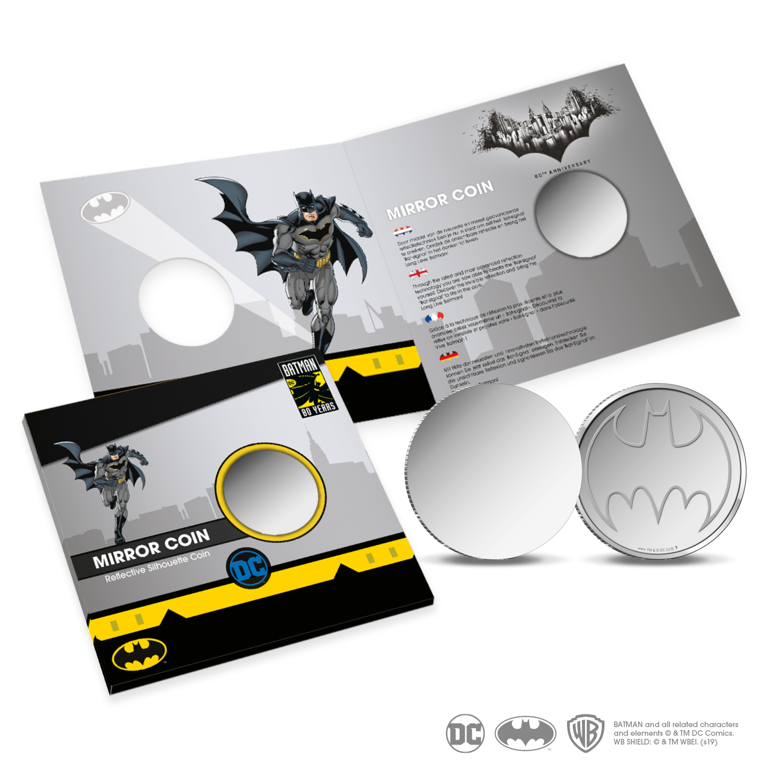 Batman Mirror Coin Bat-Signal Royal Dutch Mint Coins